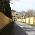 The path leading up to Hellbrunn Palace